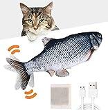Huarumei Katzenspielzeug Elektrisch Fisch, Katze Spielsachen Fisch USB mit...