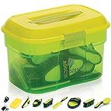 Adozen Pferde-Putzbox mit Inhalt | 10-Teilig befüllt | Soft Touch Antirutschgriffe |...
