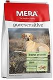 MERA Pure Sensitive Hundefutter  Insect Protein  Trockenfutter für Sensible Hunde...