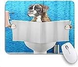 Mausmatte Mauspad Boxer Hund Buch lesen Mosaik maßgeschneiderte Kunst Mousepad...