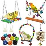 17 Stück Bunten Vogelspielzeug, Stehende Sitzstangen Vogel Papagei Schaukel...
