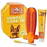 Natural Dog Treats Hundezahnbürste und Zahnpasta mit Rindfleischgeschmack, Hunde...