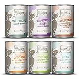 MjAMjAM - Premium Nassfutter für Hunde - Mixpaket II - mit Huhn & Ente, Rind, Pute,...