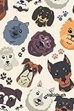 Notizbuch: Hunde Notizbuch | 6x9 Zoll DIN A5 | 120 Seiten Punktraster | Hundebesitzer...