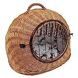 Katzenkorb aus Weide mit Kissen   Größe S 45x35x44 cm braun Natur   abnehmbares...